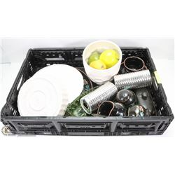 CRATE OF ASSORTED ESTATE DISHWARE
