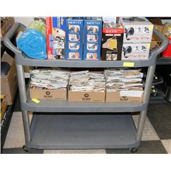 3 TIER RUBBERMAID CART