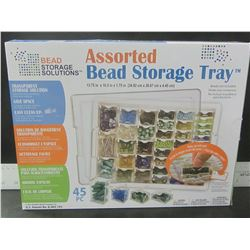 New 45 piece Assorted Bead Storage Tray