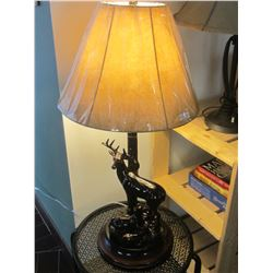 32 inch Deer Table Lamp / shade still has plastic on in picture
