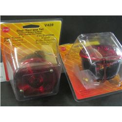 Set of 2 stop/turn/and tail universale / with license illuminator