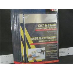 Bundle of 6 Cut & Stick Replacement Mirror / fits trucks,vans,or stick anywhere