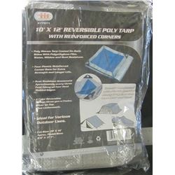 10 x 12 ft Reversable Tarp / reinforced corners