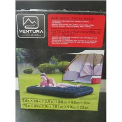 Ventura Twin Air bed outdoor equipment/ flocked top prevents sheets from slipping
