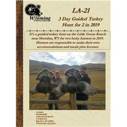 3 Day WYO Turkey Hunt for Two in 2019