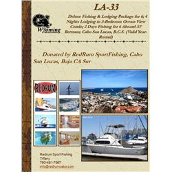 Cabo San Lucas 4 nights for 6 people /fishing with Redrum