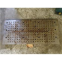 "Steel Drilled and Tapped Machining Plate, 31"" x 14"" x 1.25"""