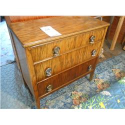 Antique 3 Drawer Dresser on Wheels