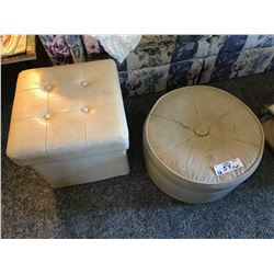 Pair of Vintage Ottomans