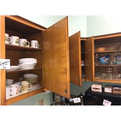 Kitchen Cupboard Lot: Misc. Dishes, Cups, Bowls, Plates, Etc. x4