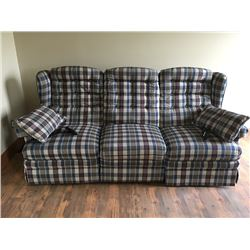 Sofa with 2 Built-in Recliner Like New
