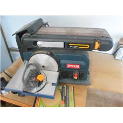 Ryobi Bench Mounted Combination Belt and Disc Sander