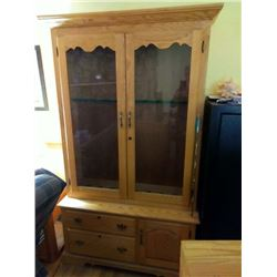 Like New Amish Made Solid Oak Gun Cabinet