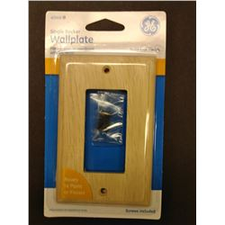 GE Wood Single Rocker Wallplate $4.99