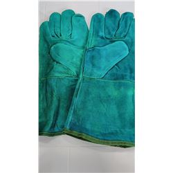 XL Men's Leather High Cuff Hot Gloves $14.99