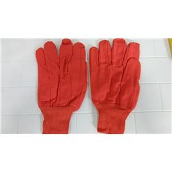 Orange Cotton Knit Wrist Chore Gloves  $5.99