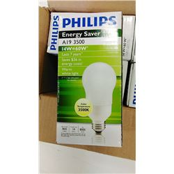 Philips Energy Saver Bulbs  7 year /60 W $6.89