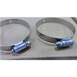 """3"""" Stainless Steel Hose Clamps, Made in USA $3.99"""