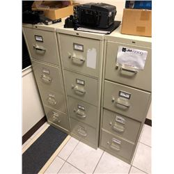 (3) file cabinets, (4) drawers each