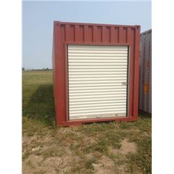 Double Ended Storage Container with Divider Brackets installed 40' Highcube