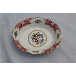 "Royal Albert Lady Carlyle 9"" Oval Bowl"