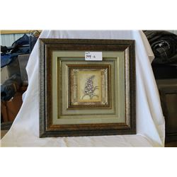 Bronze colour framed flower picture