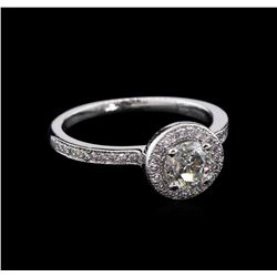 0.80 ctw Diamond Ring - 14KT White Gold