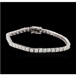 14KT White Gold 5.52 ctw Diamond Tennis Bracelet