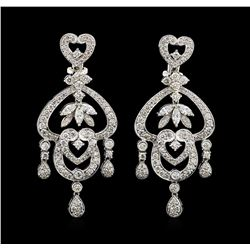 2.47 ctw Diamond Earrings - 18KT White Gold