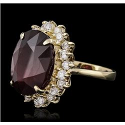14KT Yellow Gold 17.34 ctw Ruby and Diamond Ring