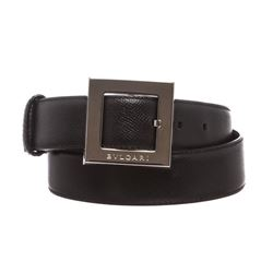 Bvlgari Black Leather Belt