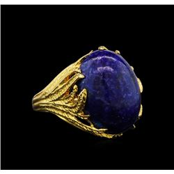 Lapis Ring - 14KT Yellow Gold