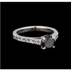 1.52 ctw Black Diamond Ring - 14KT White Gold