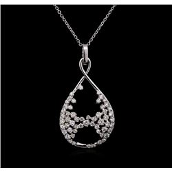 1.21 ctw Diamond Pendant With Chain - 14KT White Gold