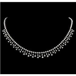 5.80 ctw Diamond Necklace - 18KT White Gold