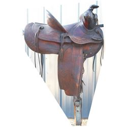 Powder River high back saddle