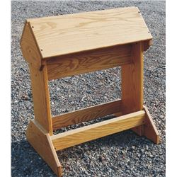 nice oak saddle stand