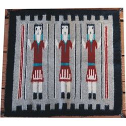 small Navajo sampler 17  x 17