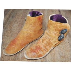 Navajo buffalo hide squaw boots