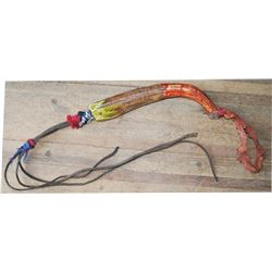 Northern Cheyenne painted horn quirt