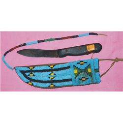 Plains Indian beaded scabbard