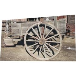 old horse drawn seed planter