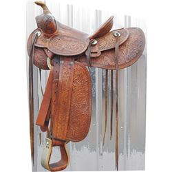 AV Voss full tooled saddle in beautiful condition