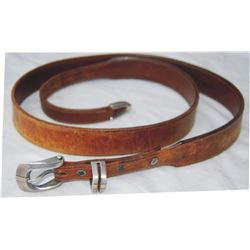 Tom Taylor belt with silver and gold buckle set