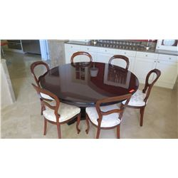 Round Dining Room Table w/ Wooden Chairs
