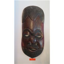 "Carved Wooden Mask, Approx. 28"" L"