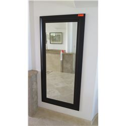 Tall Black-Framed Mirror
