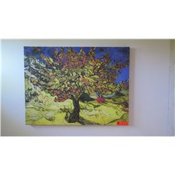 Impressionist Stretched Canvas Print - Colorful Tree 33X24