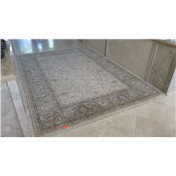 Large Ornamental Area Rug - Beige/Neutral Tones
