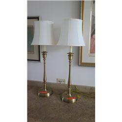 "Pair: Buffet Table Lamps, Approx. 32"" H"